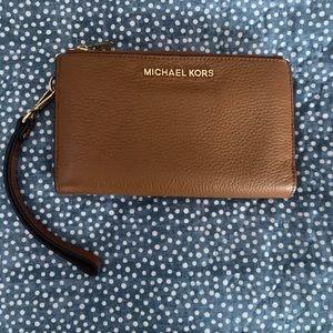 MK double zip tech wristlet/wallet